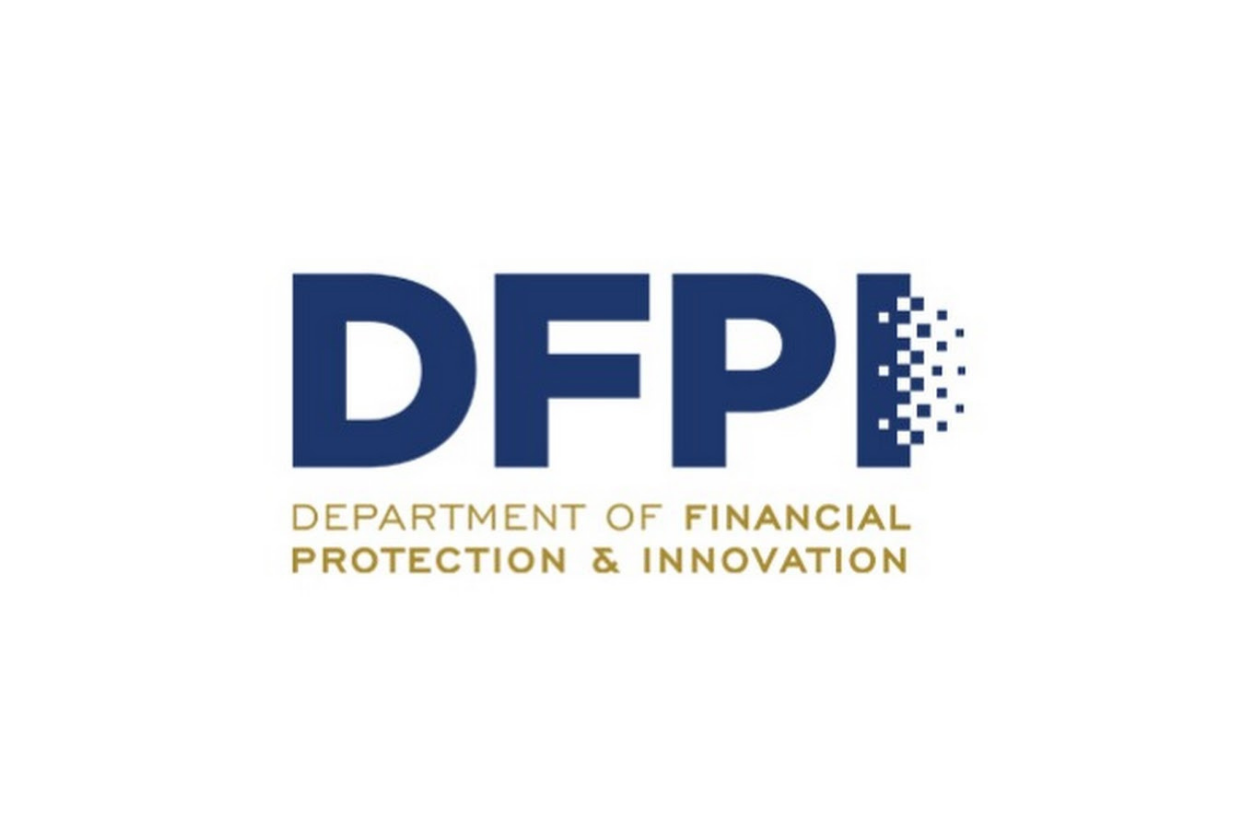 Logo for the California Department of Financial Innovation and Protection