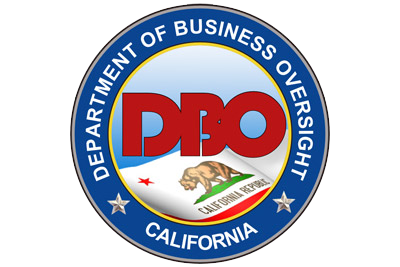 Logo image for the California Department of Business Oversight