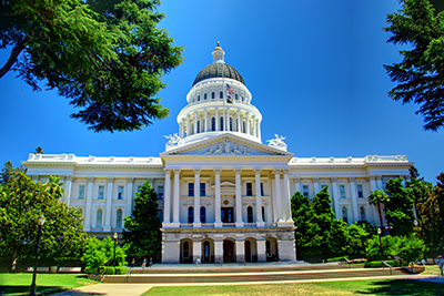 Image of capitol building in Sacramento, California.