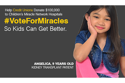 "Image of the ""Vote For Miracles"" campaign"