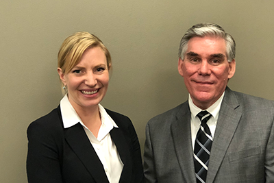 L-R: California Department of Business Oversight (DBO) Deputy Commissioner for Credit Unions Caitlin Sanford and Senior Deputy Commissioner for Financial Institutions Scott Cameron