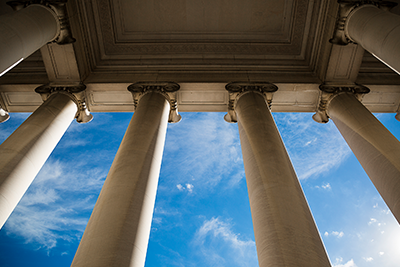 Image of state capitol building pillars