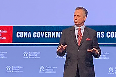 Brett Martinez, newly elected Board Chairman of the Credit Union National Association's (CUNA) Board of Directors Executive Committee (and CEO of Redwood CU)