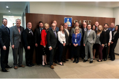 California Sen. Brian Dahle, R-Bieber (third from right), with Sacramento-area credit union leaders during a meet-and-greet hosted at SAFE CU.