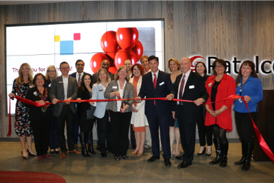 Patelco CU senior management and employees with regional officials and legislators at the credit union's ribbon-cutting celebration for its new headquarters in Dublin, CA — where 400 members, volunteers, local dignitaries, business and nonprofit leaders, and others attended.