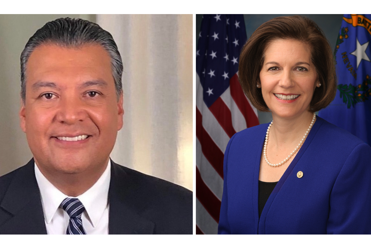 Senators Alex Padilla (D-CA) and Catherine Cortez Masto (D-NV)