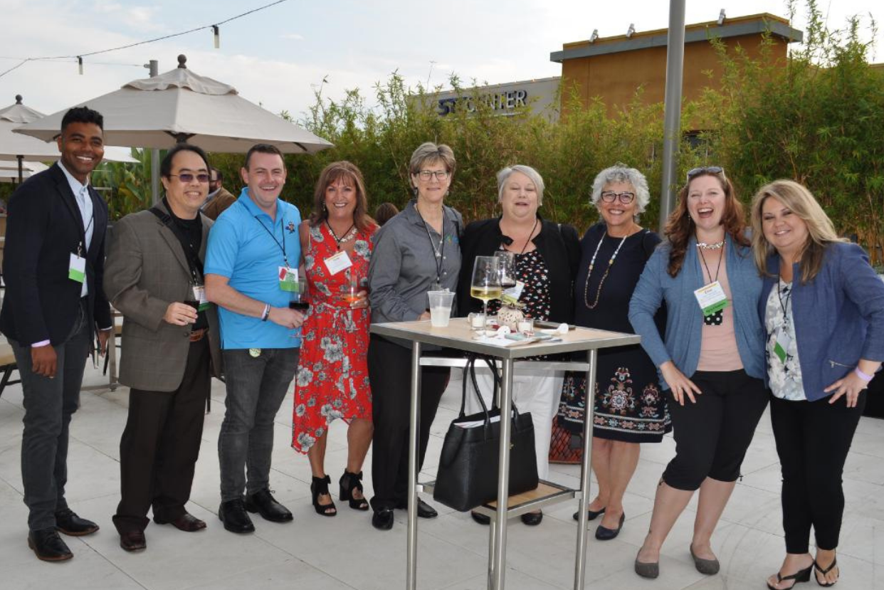 Shapiro Summit attendees and small-credit union leaders with Diana Dykstra (third from right), president and CEO of the California and Nevada Credit Union Leagues